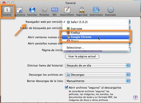 cambiar navegador predeterminado Como cambiar el navegador predeterminado en Mac