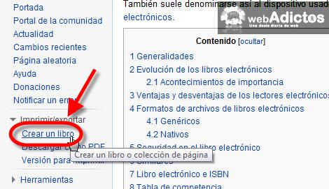 Crear un eBook a partir de un artículo de Wikipedia - crear-libro-wikipedia
