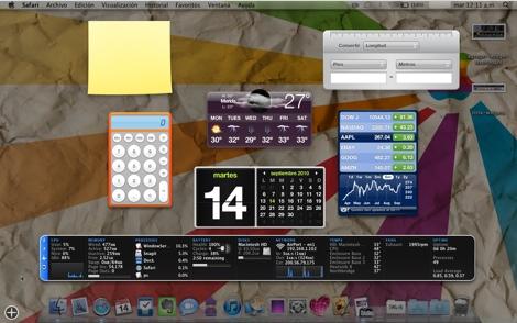 Como agregar widgets al dashboard de Mac - dashboard