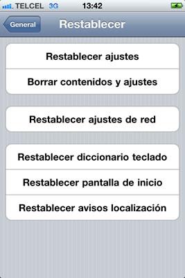 Activar FaceTime en iPhone - facetime-restablecer-ajustes