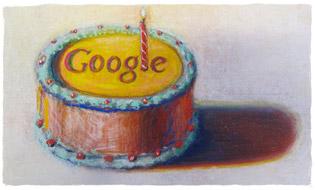 Google cumple 12 años con un Doodle pastel de cumpleaños - google-cumple-12-anos