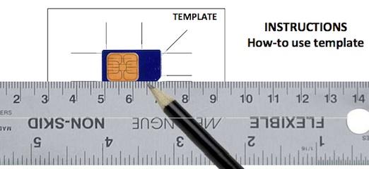 Como hacer una Micro-SIM de una SIM convencional - instrucciones-micro-sim
