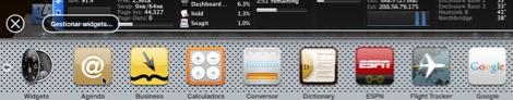 Como agregar widgets al dashboard de Mac - lista-widgets