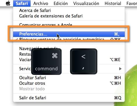 Como cambiar el navegador predeterminado en Mac - preferencias-safari-mac