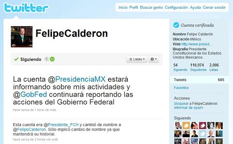 Felipe Calderón verifica su cuenta de Twitter - twitter-felipe-calderon