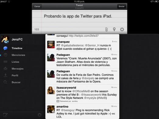 La aplicación oficial de Twitter para iPad esta disponible - twitter-for-ipad