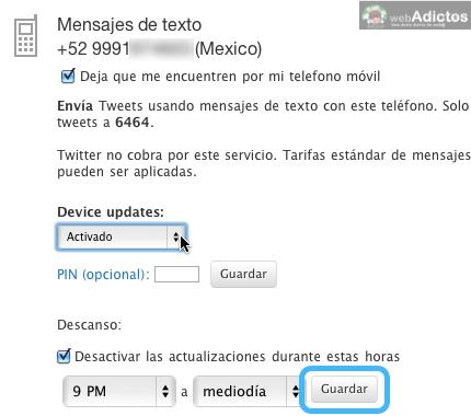 Activar twitter con tu celular movil 7 Activar Twitter por mensajes de texto SMS