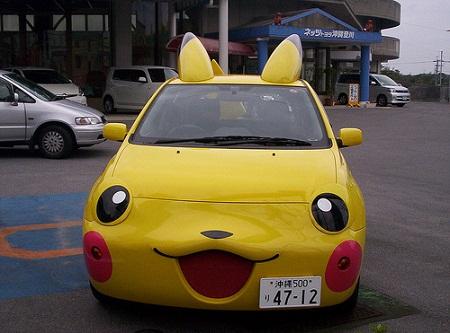 Coches en forma de Pikachu 4 Coches en forma de Pikachu