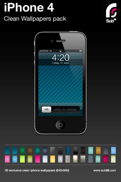 Wallpapers iPhone 4 Wallpapers iPhone 4 (30 fondos sencillos y elegantes)