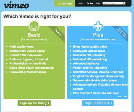 Crear una cuenta en Vimeo - cuenta-vimeo