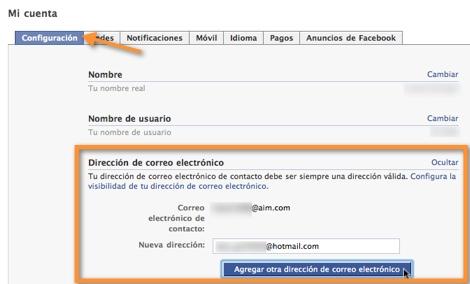 Como cambiar tu correo de contacto en Facebook - direccion-correo-facebook1
