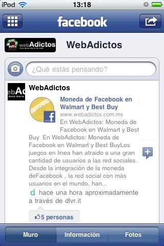 Como manejar páginas en Facebook desde tu iPhone - facebook-iphone-paginas-webadictos