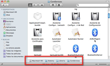 Como ubicar el video de introducción de Mac OS X - finder-coreservices