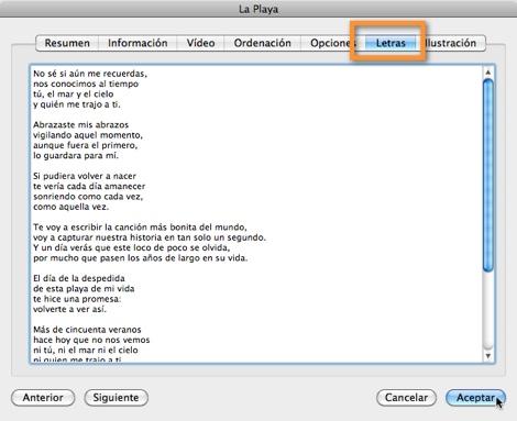 letras canciones itunes Mantener tus canciones ordenadas en iTunes