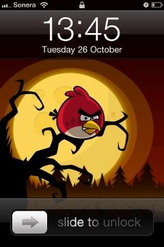 Fondos pantalla de Angry Birds Halloween - lock-screen