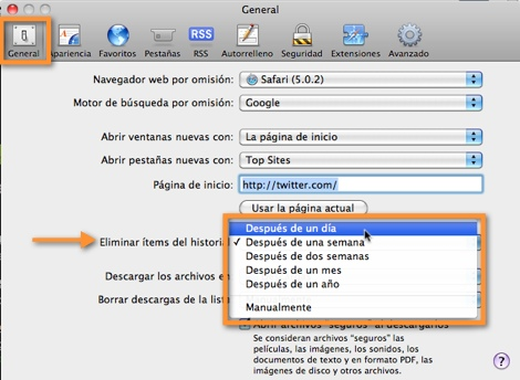programar borrar historial safari Como borrar el historial de navegación de Safari