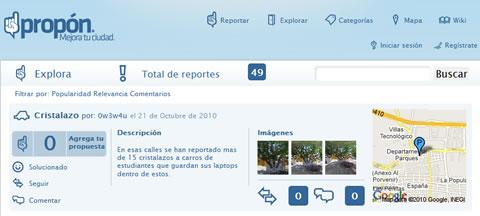reportes anonimos Propon.mx, denuncias y propuestas ciudadanas