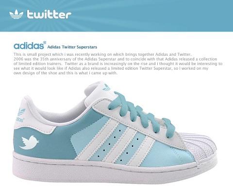 Adidas pondrá a la venta tenis de Facebook y Twitter - adidas-tenis-twitter
