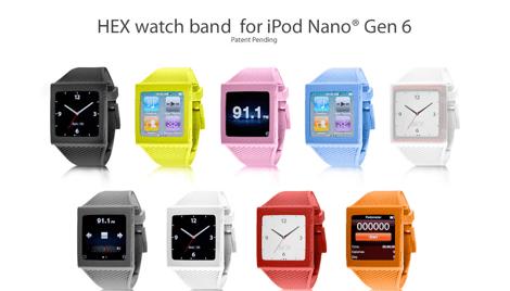 Relojes iPod Nano, las mejores fundas hasta ahora - hex-hero