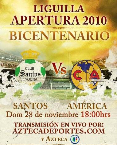 santos america en vivo semifinal apertura 2010 Santos vs America en vivo, Semifinal Apertura 2010