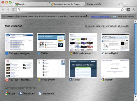 tema instalado google chrome Como cambiar tu tema de Google Chrome