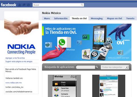 La tienda de OVI de Nokia se integra a Facebook - tienda-ovi-nokia-facebook