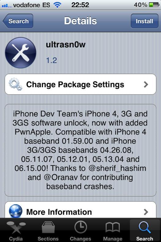 El Dev-Team actualiza Ultrasn0w para liberar el iPhone 3g y 3GS con iOS 4.2.1 - ultrasn0w-ios-4.2.1