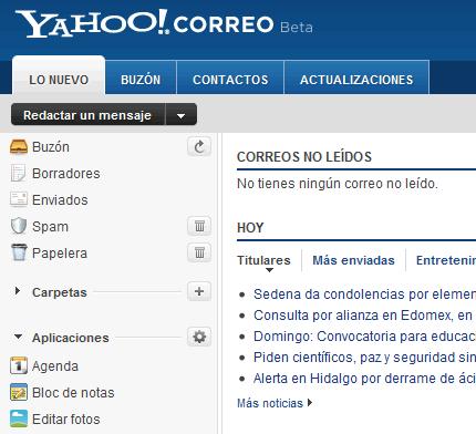 Yahoo Correo Beta lanza el calendario y más funcionalidades - correo-yahoo-beta
