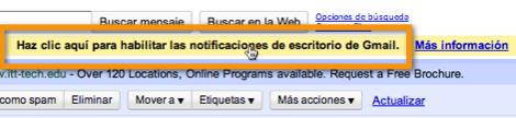 notificaciones de escritorio de gmail1 Como activar las nuevas notificaciones de escritorio de Gmail