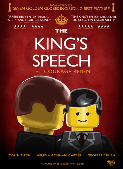 Las nominadas al Oscar versión Lego - Kings-Speech