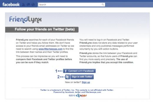 FriendLynx nos ayuda a encontrar que amigos de Facebook usan Twitter - amigos-facebook-y-twitter
