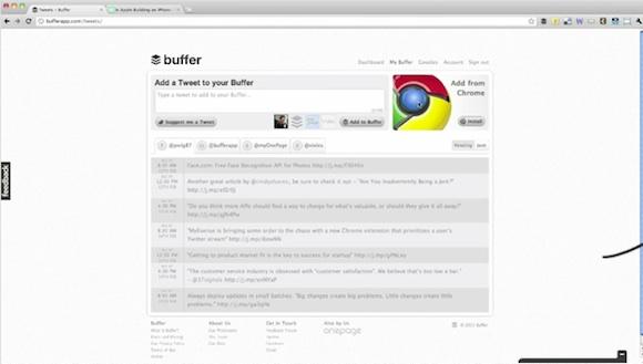 Programa la publicación de tus tweets con Buffer - bufferapp