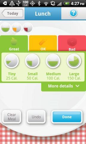 calorias Excelente contador de calorías para Android