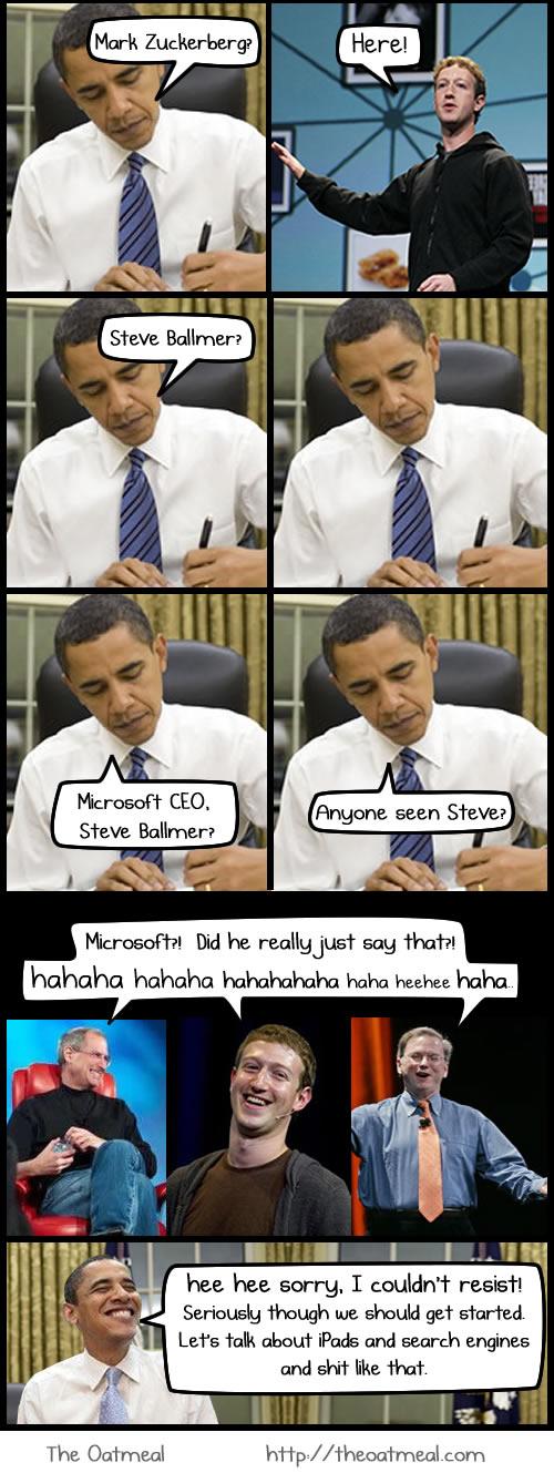 Lo que se habló en la reunión de Obama con los líderes en tecnología [Comic] - comic-obama-jobs-schmidt-1