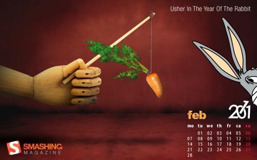 Fondos de pantalla de Febrero 2011 - fondos-febrero-ano-conejo
