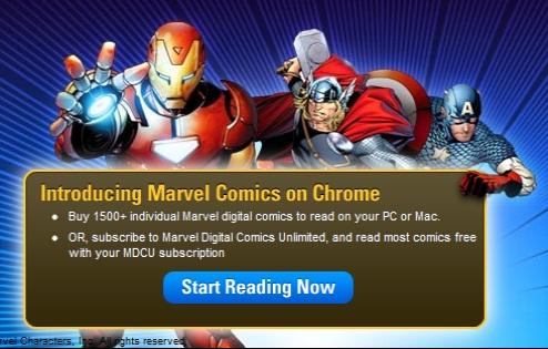 Marvel Comics tiene ahora aplicación para Google Chrome - marvel-comics-chrome