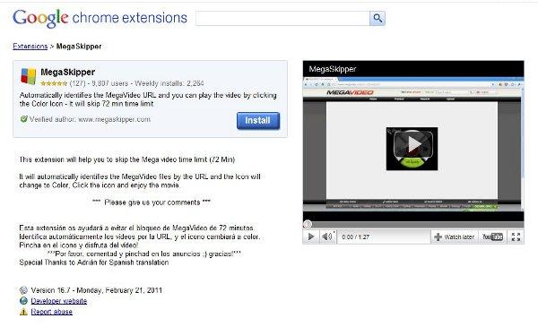 MegaSkyper elimina las restricciones de tiempo en Megavideo - megaskyper