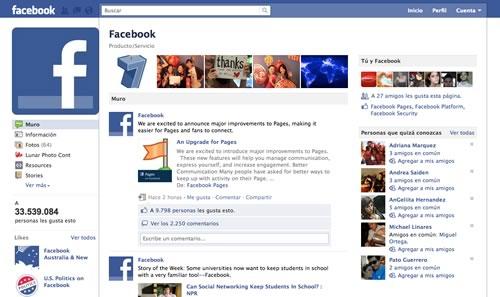 nueva pagina fans facebook Facebook rediseña las páginas de fans