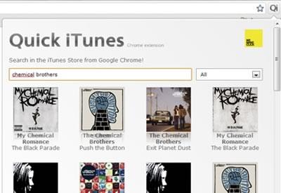 Buscar en iTunes desde el navegador con Quick iTunes - quick-itunes-chrome