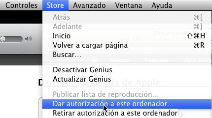 retirar autorizacion itunes tienda 6 Como retirar autorización a tus ordenadores de tu cuenta de iTunes