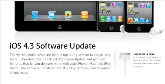 Cómo actualizar tu iPhone, iPad o iPod Touch a iOS 4.3 - Actualizacion-ios-4.3