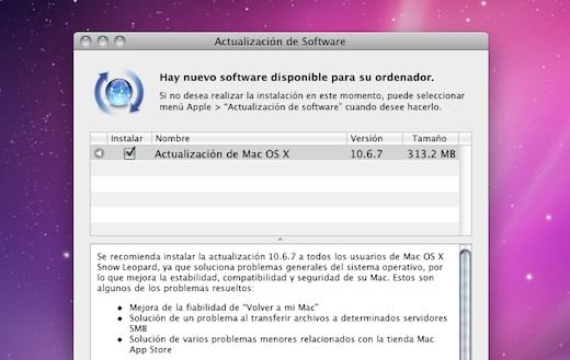 Actualización de Mac OS X 10.6.7 disponible para descargar - Mac-OS-X-10.6.7