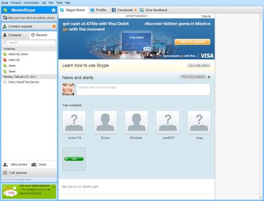 Skype publicidad Skype incorporará publicidad en su servicio