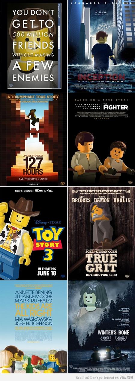 lego oscar posters 2 Las películas nominadas al Oscar vueltas Lego