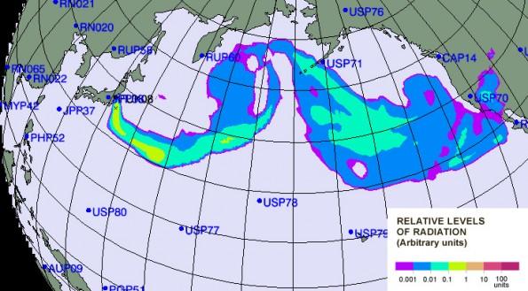 La ONU pronostica el movimiento de la radiación de los reactores afectados en Japón - nube-nuclear-595x329