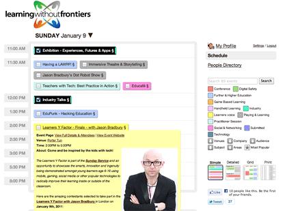 Crea calendarios sociales con Sched - social-calendar-tool