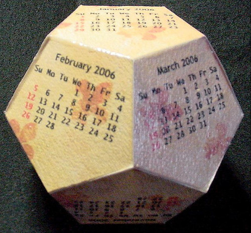 dodecahedron cube 2012 Calendarios 2013 para imprimir