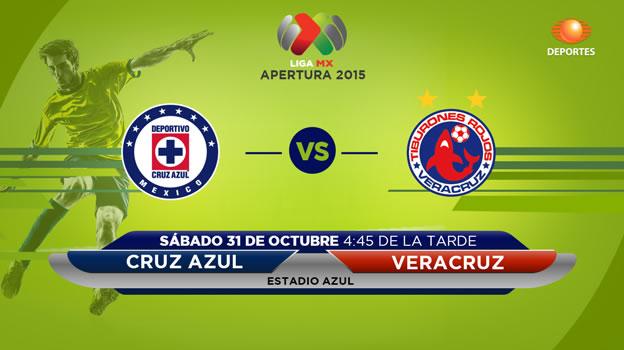 cruz azul vs veracruz en vivo apertura 2015 Cruz Azul vs Veracruz en el Apertura 2015 | Jornada 15