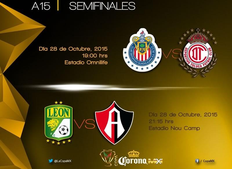 Semifinales de la Copa MX Apertura 2015: A qué hora son y en qué canal se transmiten - horarios-semifinales-copa-mx-apertura-2015