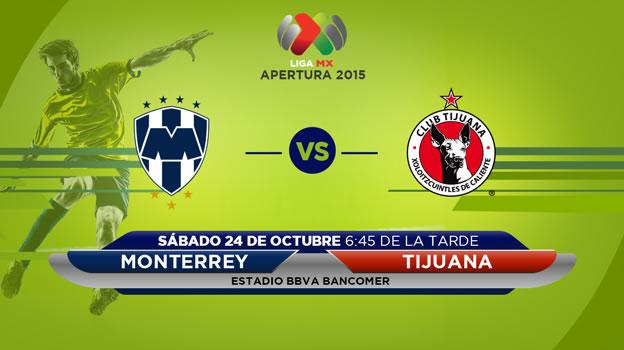 Monterrey vs Tijuana, Jornada 14 del Apertura 2015 - monterrey-vs-tijuana-en-vivo-apertura-2015